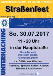 das Plakat vom Strassenfest 2017